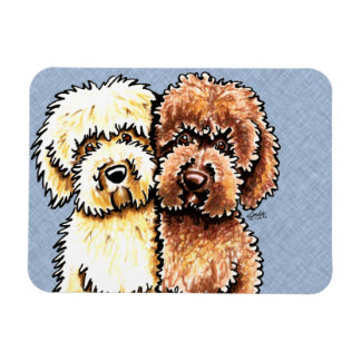Cream Chocolate Labradoodles Magnet
