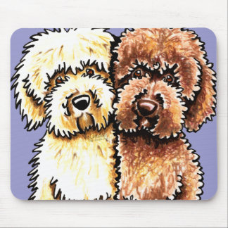 Cream Chocolate Labradoodles Mouse Pad