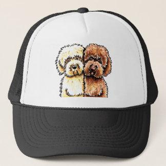 Cream Chocolate Labradoodles Trucker Hat