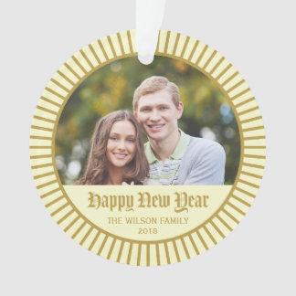 Cream Classic Decorative Happy New Year Photo