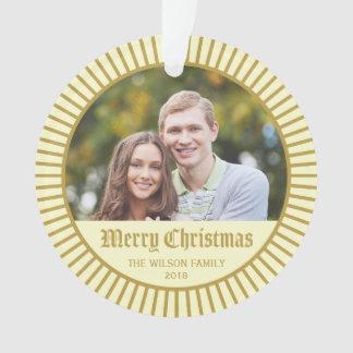 Cream Classic Decorative Merry Christmas Photo
