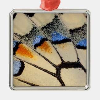 Cream color butterfly wing detail Silver-Colored square decoration