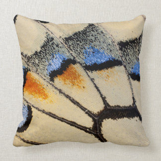 Cream color butterfly wing detail throw pillow
