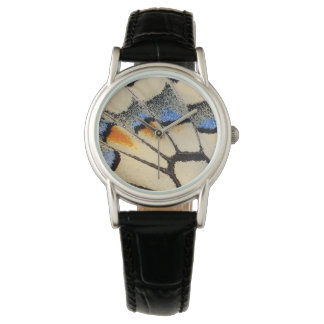 Cream color butterfly wing detail watch