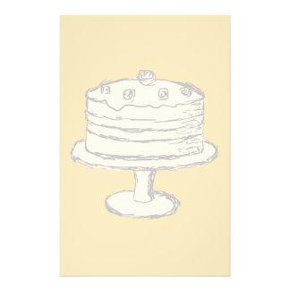 Cream Color Cake on Beige Background. 14 Cm X 21.5 Cm Flyer