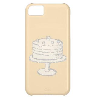 Cream Color Cake on Beige Background. iPhone 5C Case