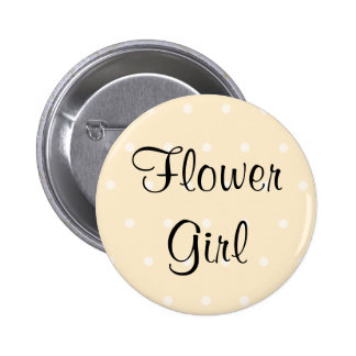 Cream Color Polka Dot Wedding Buttons