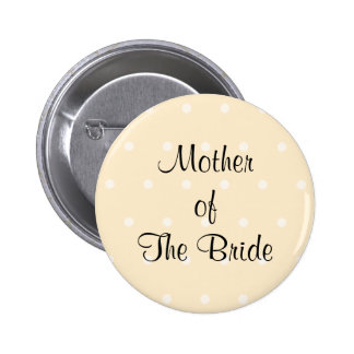 Cream Color Polka Dot Wedding Pins