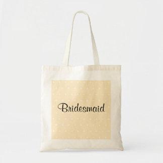 Cream Color Polka Dot Wedding Tote Bag