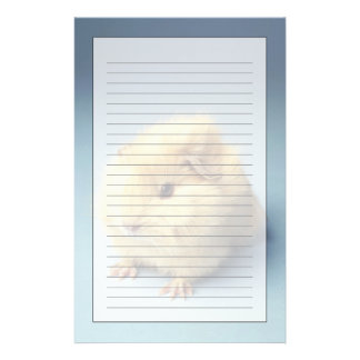 Cream colored Guinea pig Personalized Stationery