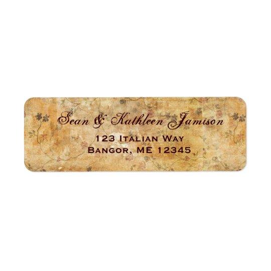 Cream coloured flower address labels