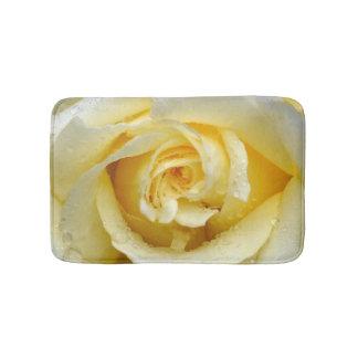 Cream coloured rose bath mat