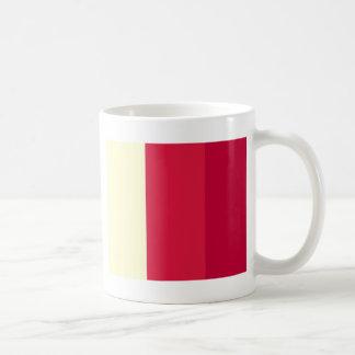 CREAM CRIMSON CRIMSON ABSTRACT COFFEE MUGS