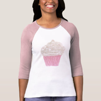 Cream Cupcake Ladies 3/4 Sleave Raglan T-Shirt