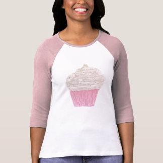 Cream Cupcake Ladies 3/4 Sleave Raglan Tshirts
