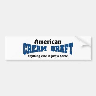 Cream Deaft Horse Car Bumper Sticker