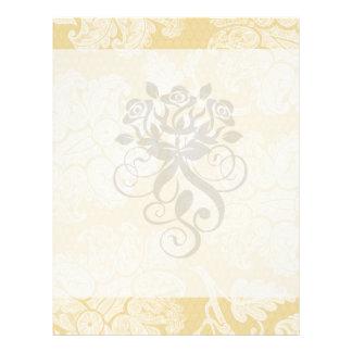 cream ecru floral elegant damask personalized flyer