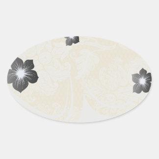 cream ecru floral elegant damask sticker
