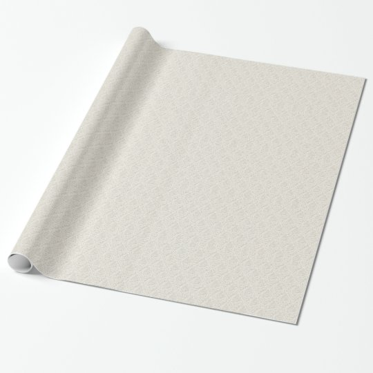 Cream Elegance Damask Wrapping Paper