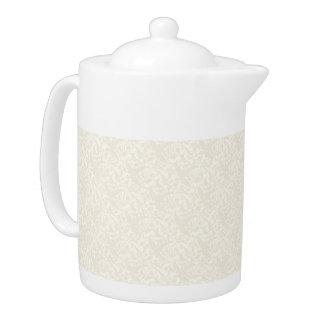 Cream Elegance Medium Teapot
