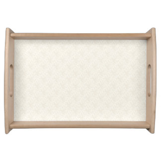 Cream Elegance Small Serving Tray