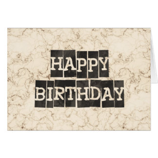 Cream Faux Marble Greeting Card