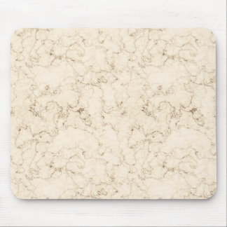 Cream Faux Marble Mouse Pad