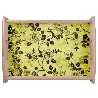 Cream_Floral(c) Faded+Raw-Silk_Design Serving Tray