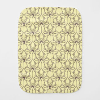 Cream Floral Pattern Burp Cloth