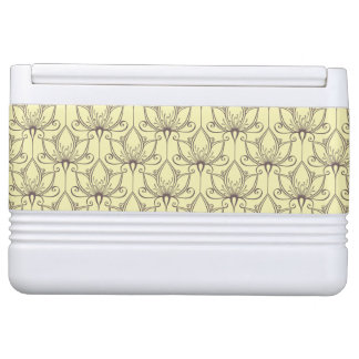Cream Floral Pattern Igloo Cooler