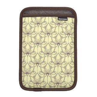 Cream Floral Pattern iPad Mini Sleeve