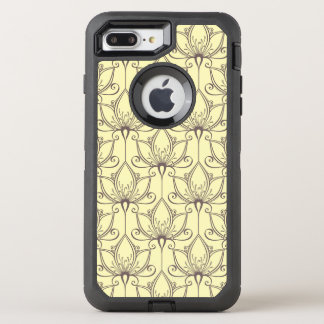 Cream Floral Pattern OtterBox Defender iPhone 8 Plus/7 Plus Case