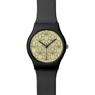 Cream Floral Pattern Watch