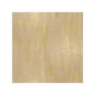 Cream Gold Abstract Canvas Print