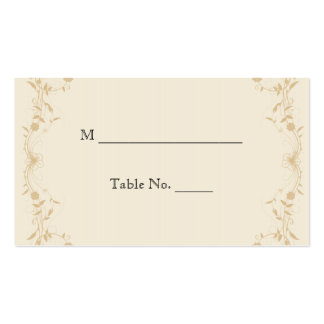 Cream Gold Vintage Pinstripe Wedding Place Cards Business Card