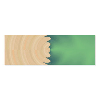 Cream Green Abstract Waves Pattern Business Card Template