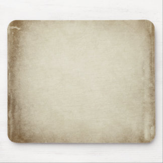 Cream Grungy Edges Mouse Pad