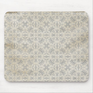 cream grungy pattern mouse pad