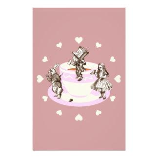 Cream Hearts Around a Mad Tea Party Flyers