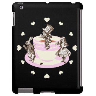 Cream Hearts Around A Mad Tea Party Original iPad Case