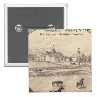 Cream Hill Stock Farm in Shoreham Vermont 15 Cm Square Badge