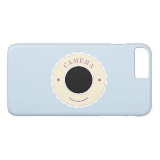 Cream individuality camera & smile iPhone 7 plus case
