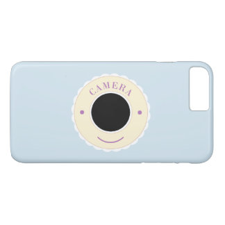 Cream individuality camera & smile iPhone 8 plus/7 plus case