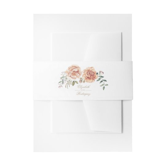 Cream Ivory Watercolor Flower Elegant Boho Wedding Invitation