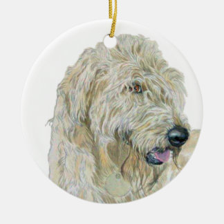 Cream Labradoodle Christmas Ornament