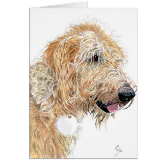 Cream Labradoodle Greeting Card