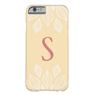 Cream Lace Flower Monogram Phone Case