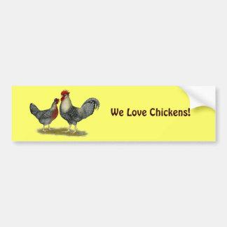 Cream Legbar Chickens Car Bumper Sticker