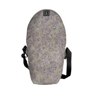 Cream lilac glitter messenger bags