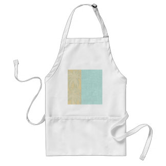 Cream Linen and Blue Palm Trees Standard Apron